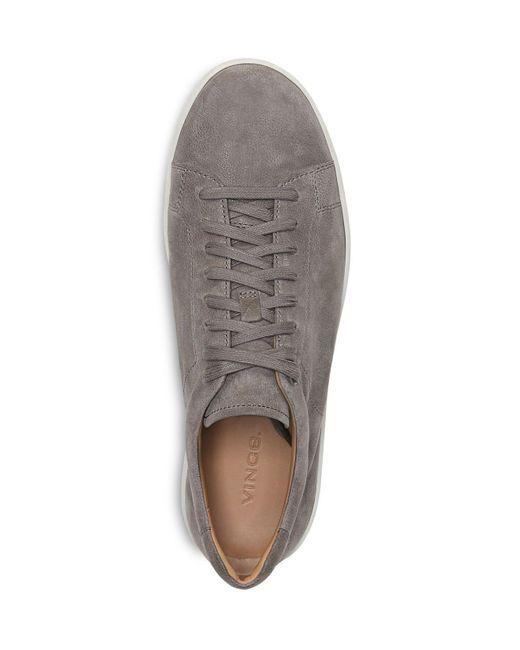Vince Slater Nubuck Sneakers In Gray For Men Lyst