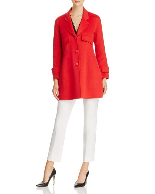 8964037444730 ... Lyst Armani - Red Emporio Fitted Wool   Cashmere Coat ...