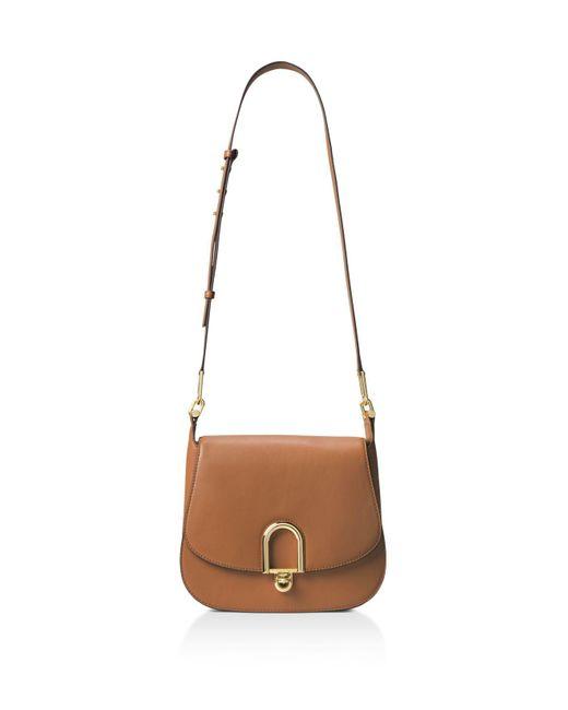 MICHAEL Michael Kors | Multicolor Delfina Large Leather Saddle Bag | Lyst