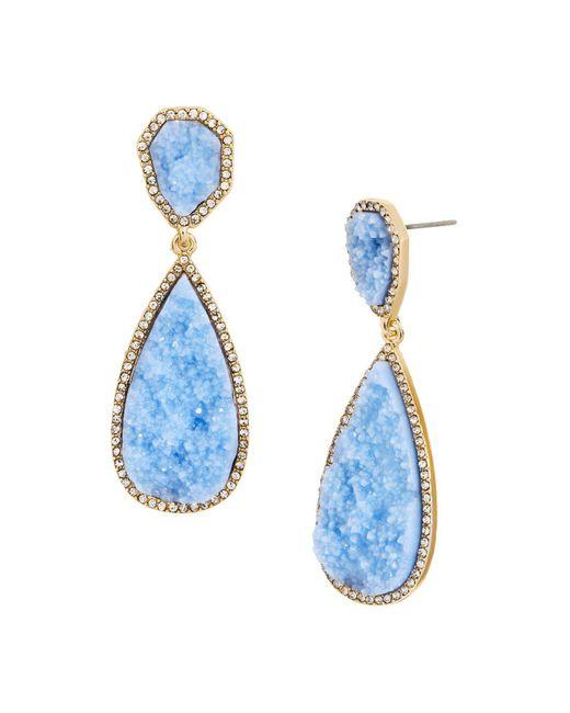 BaubleBar   Blue Moonlight Druzy Earrings   Lyst