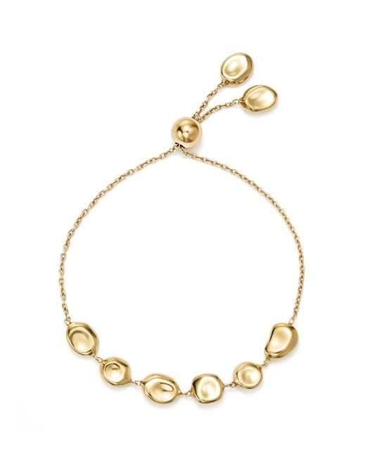 Ippolita | Metallic 18k Yellow Gold Onda Pebble And Chain Bracelet | Lyst