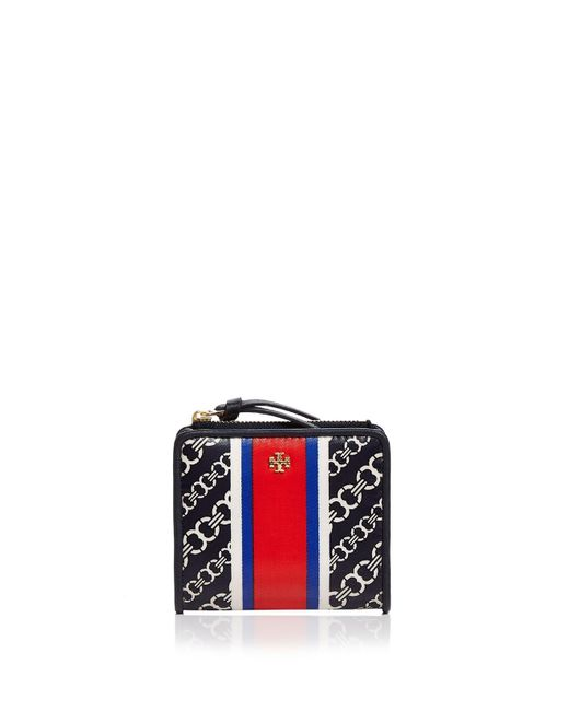 Tory Burch | Blue Gemini Link Mini Wallet | Lyst