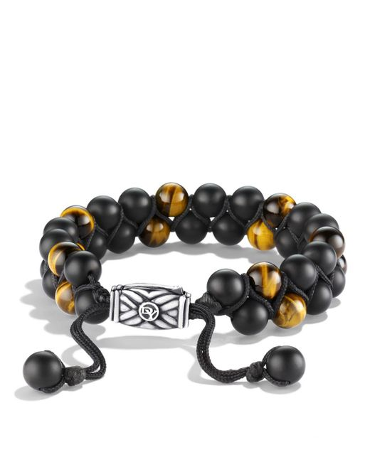 David Yurman - Spiritual Beads Two-row Bracelet With Black Onyx & Tiger's Eye - Lyst