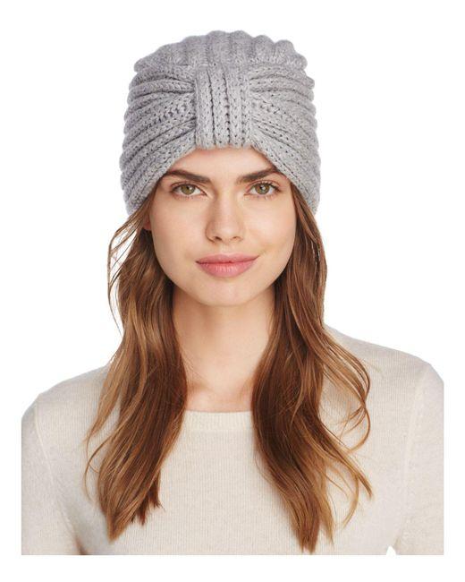 Rosie Sugden | Gray Knit Cashmere Turban Hat | Lyst