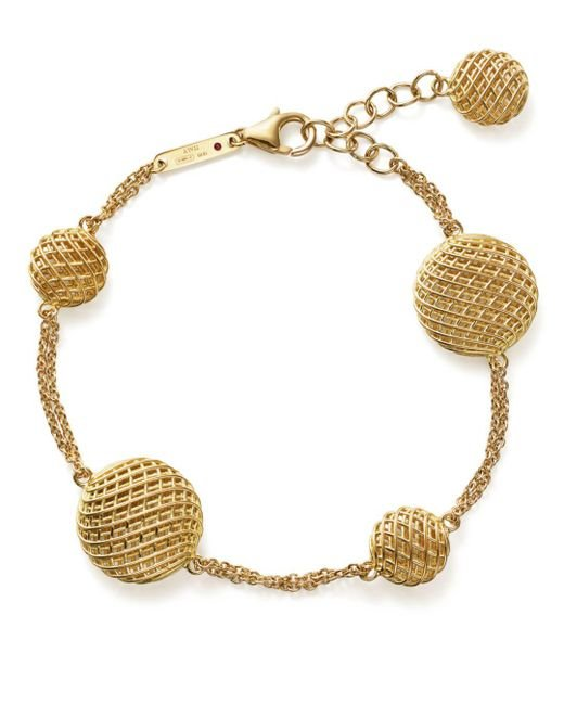 Roberto Coin - Metallic 18k Yellow Gold Silk Bracelet - Lyst