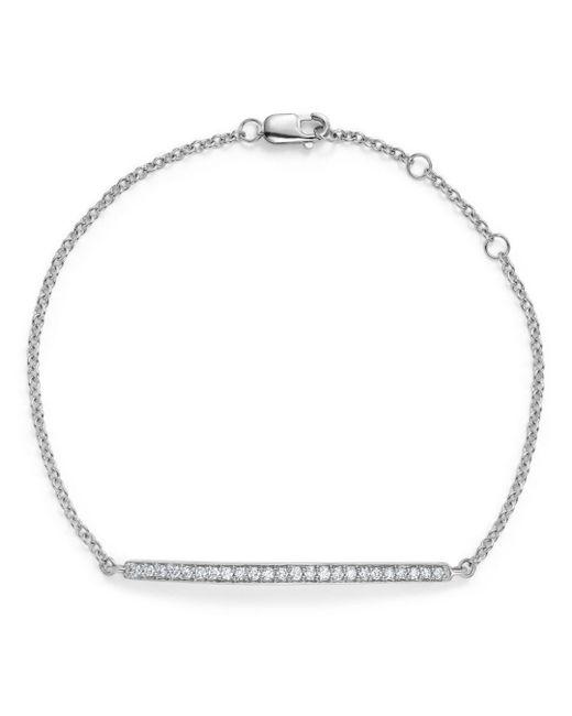 Bloomingdale's - Diamond Bar Bracelet In 14k White Gold, .25 Ct. T.w. - Lyst