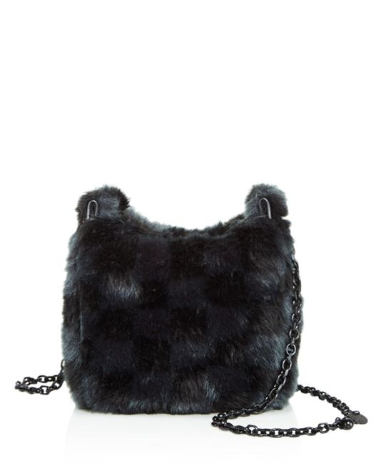 Kendall + Kylie - Black Kendall And Kylie Amy Faux-fur Crossbody - Lyst