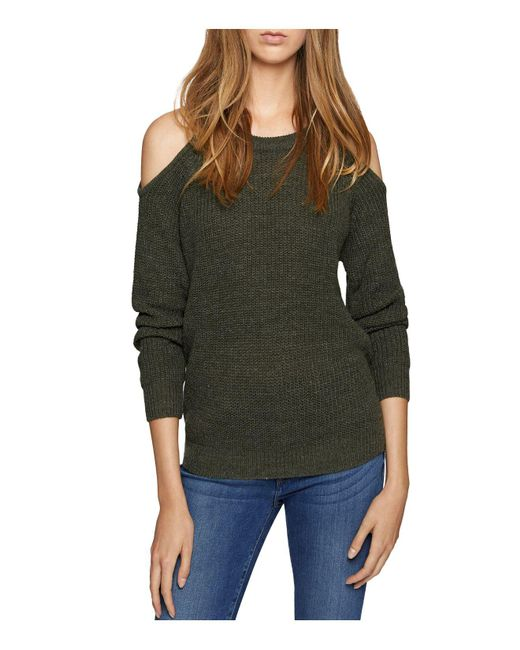 Sanctuary   Green Riley Cold-shoulder Sweater   Lyst