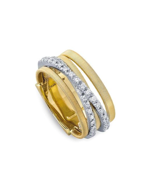 Marco Bicego - Metallic 18k Yellow Gold Goa Five Row Ring With Diamonds - Lyst