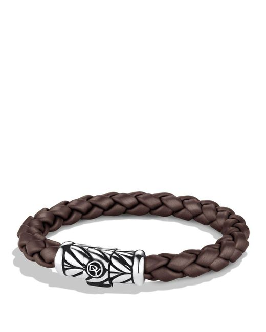 David Yurman - Metallic Chevron Bracelet In Brown - Lyst