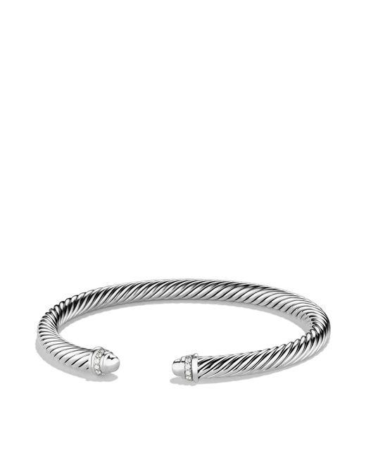 David Yurman - Metallic Cable Classic Bracelet With Carnelian And 14k Gold, 5mm - Lyst