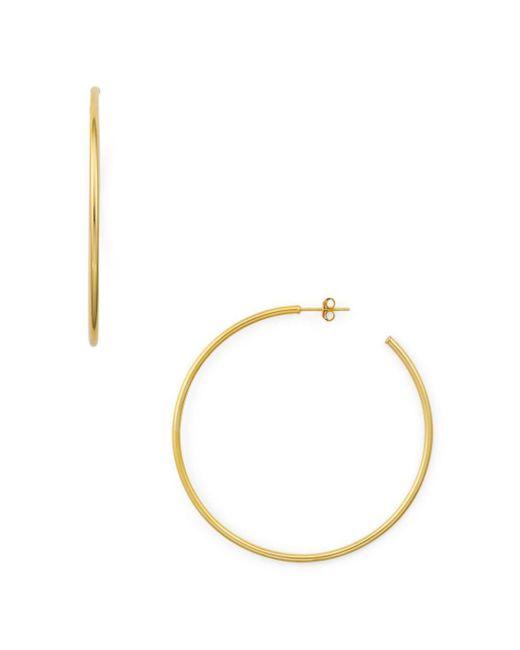 Aqua - Metallic Large Hoop Earrings In 18k Gold-plated Sterling Silver Or Sterling Silver - Lyst