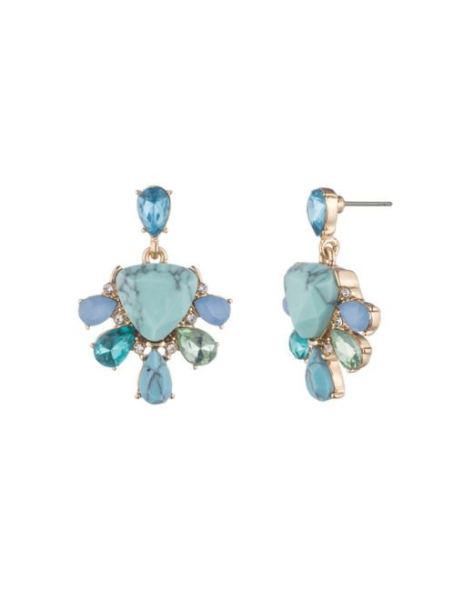 Carolee - Blue Double Drop Earrings - Lyst