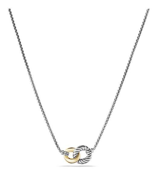 David Yurman | Metallic Belmont Necklace With 18k Gold | Lyst