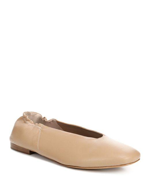 Vince - Natural Women's Lorelle Leather Ballet Flats - Lyst