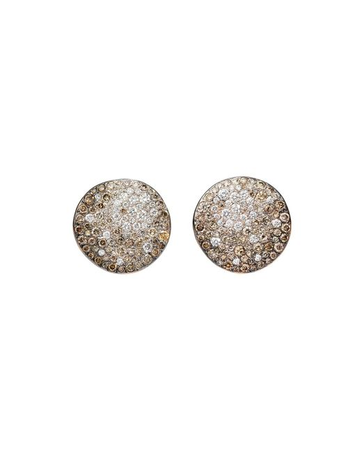 Pomellato | Metallic Sabbia Earrings With Brown And White Diamonds In 18k Rose Gold | Lyst