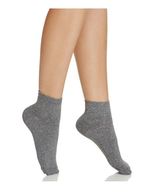 Kate Spade | Gray Gem Anklet Socks | Lyst