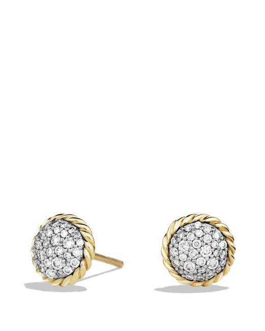 David Yurman - Metallic Châtelaine Earrings With Diamonds In 18k Gold - Lyst