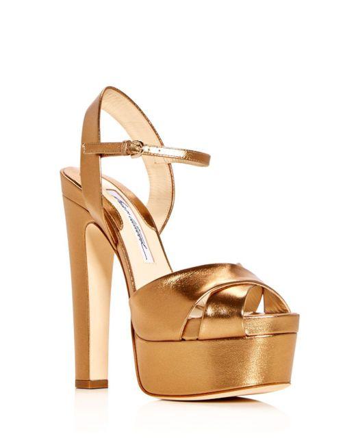 Brian Atwood - Metallic Women's Madison High-heel Platform Sandals - Lyst