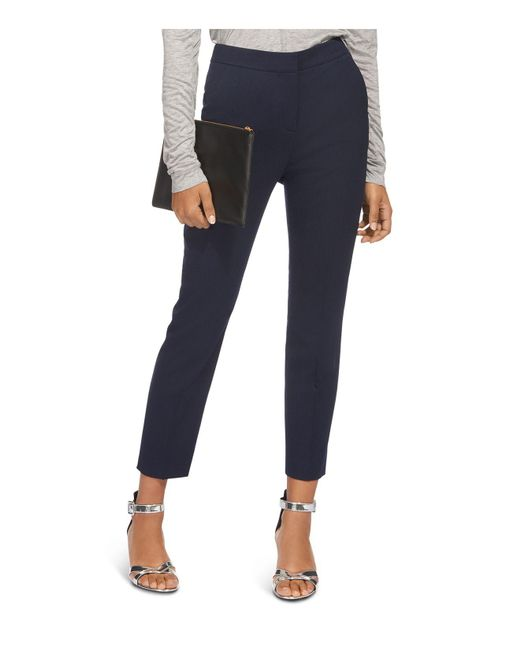 Whistles - Blue Cropped Slim-leg Pants - Lyst