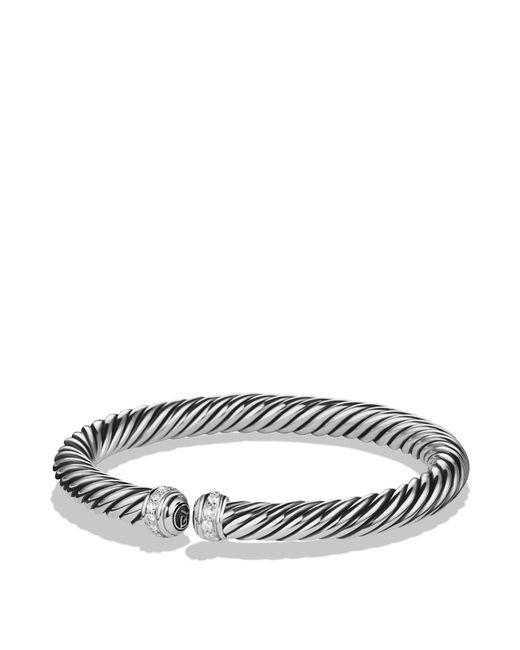David Yurman - Metallic Cable Spira Bracelet With Diamonds - Lyst