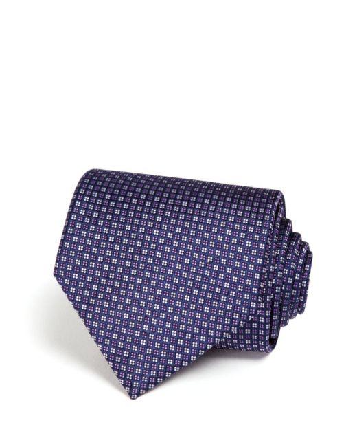 Bloomingdale's - Blue Micro Grid Wide Tie for Men - Lyst