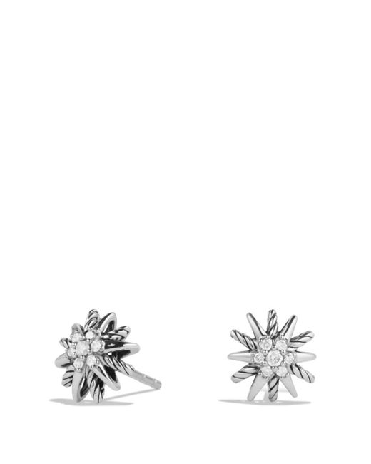 David Yurman - Metallic Starburst Earrings With Diamonds - Lyst