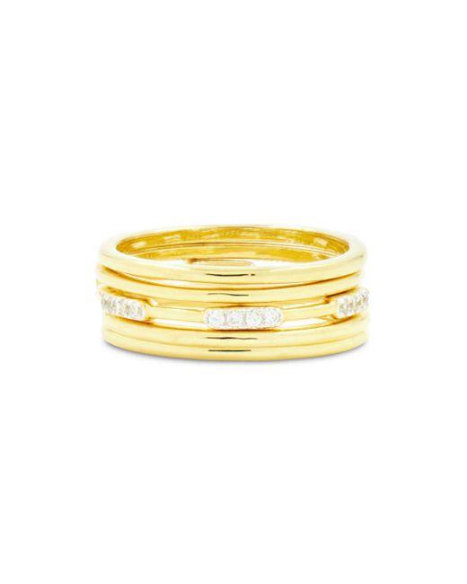 Freida Rothman - Metallic Radiance 5 Stack Ring - Lyst