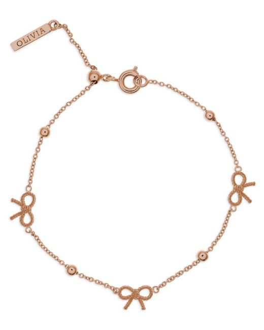 Olivia Burton - Metallic Vintage Bow And Ball Bracelet - Lyst