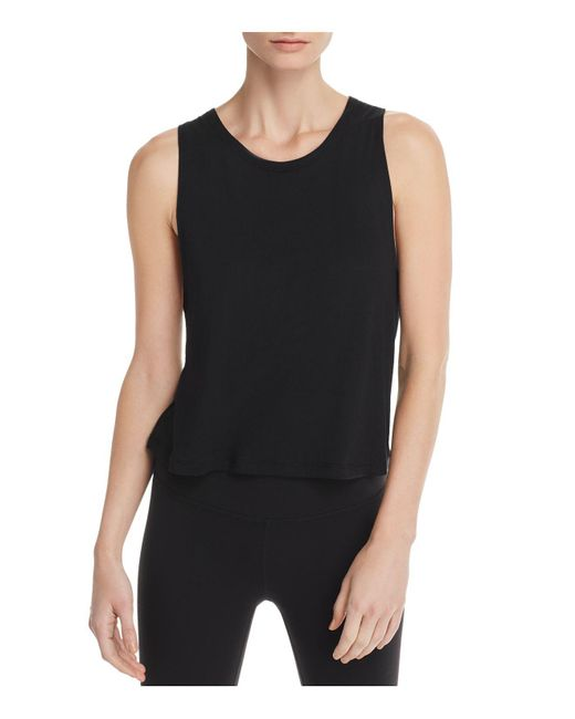 Beyond Yoga - Black Aquarius Twist Cutout Tank - Lyst