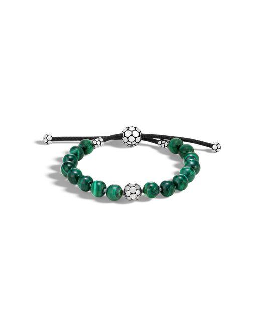 John Hardy | Green Sterling Silver Dot Bead Bracelet With Malachite | Lyst