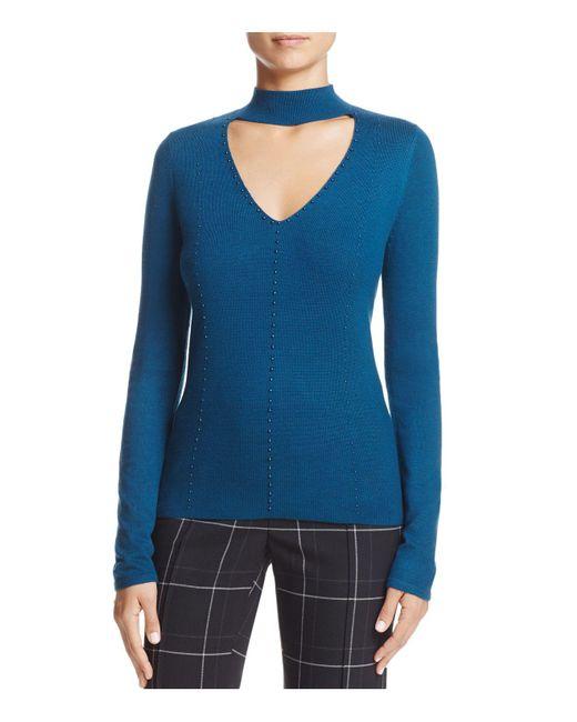 T Tahari | Blue Rodena High-neck Sweater | Lyst