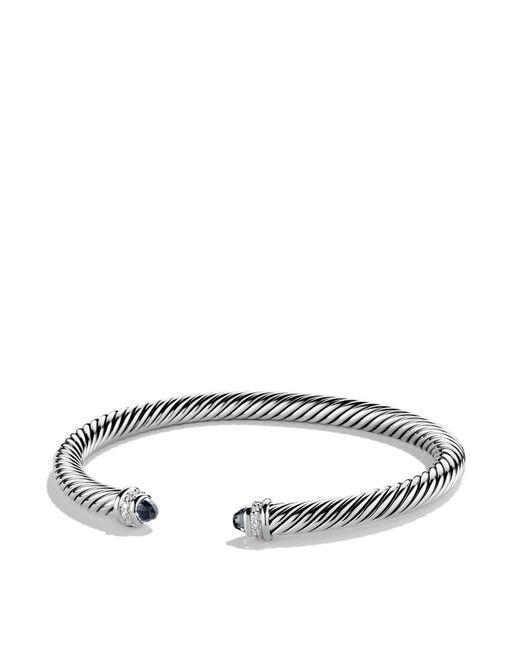 David Yurman - Cable Classics Bracelet With Black Onyx & Diamonds - Lyst