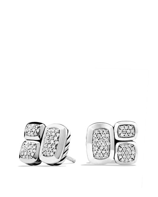 David Yurman | Metallic Confetti Stud Earrings With Diamonds | Lyst