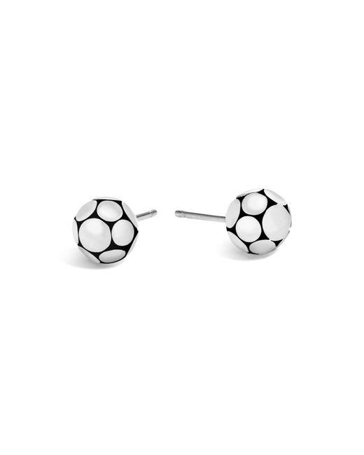 John Hardy | Metallic Sterling Silver Dot Small Ball Earrings | Lyst