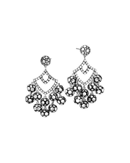 John Hardy | Metallic Sterling Silver Dot Chandelier Earrings | Lyst