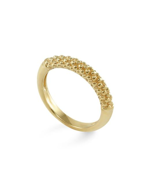 Lagos - Metallic 18k Gold Beaded Ring - Lyst