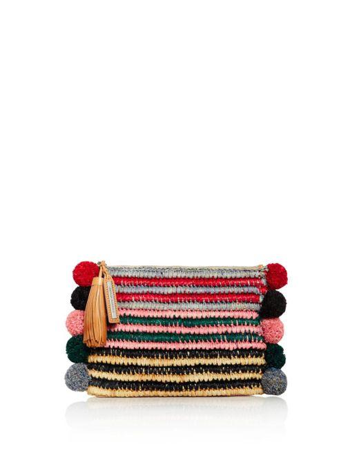 Loeffler Randall - Multicolor Tassel Raffia Pouch - Lyst