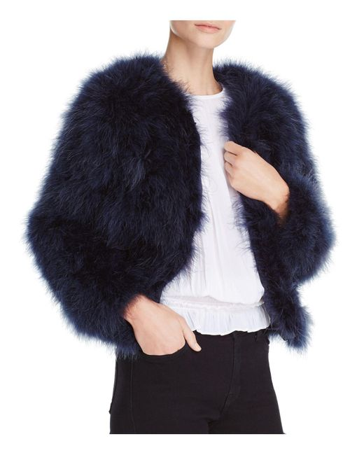 Pellobello | Blue Fluffy Feather Fever Jacket | Lyst