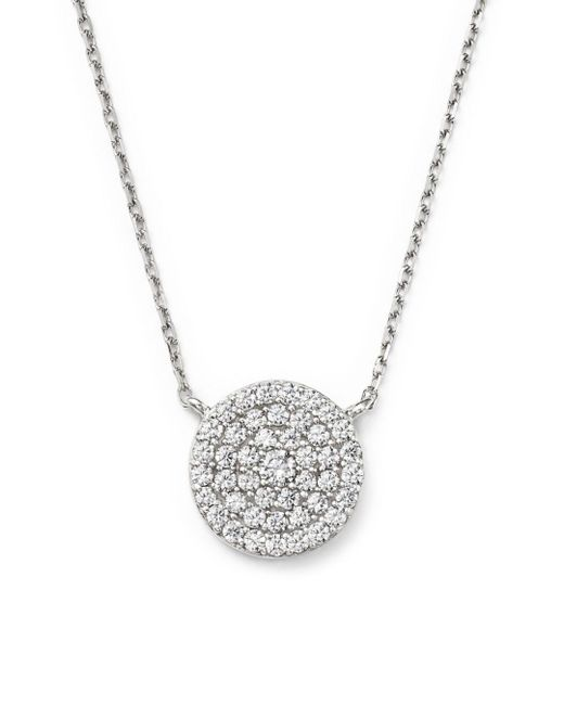 Bloomingdale's - Diamond Disc Pendant Necklace In 14k White Gold, .50 Ct. T.w. - Lyst