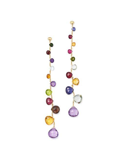 Marco Bicego - Metallic 18k Yellow Gold Paradise Teardrop Linear Gemstone Earrings - Lyst