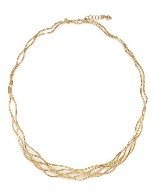"Bloomingdale's - Metallic 14k Yellow Gold Wave Wire Collar Necklace, 17"" - Lyst"