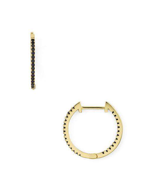 Aqua - Multicolor Black Pavé Huggie Hoop Earrings - Lyst