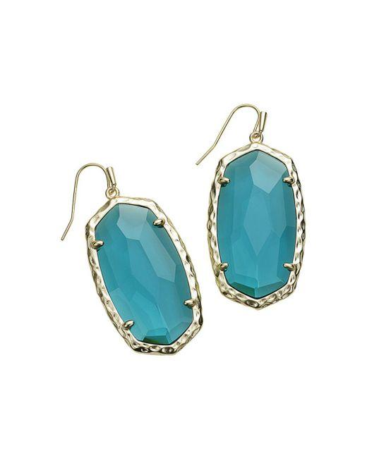 Kendra Scott - Blue Ella Silver Drop Earrings - Lyst
