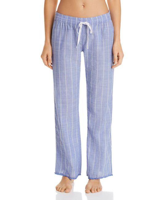 Pj Salvage - Blue Striped Woven Pj Pants - Lyst