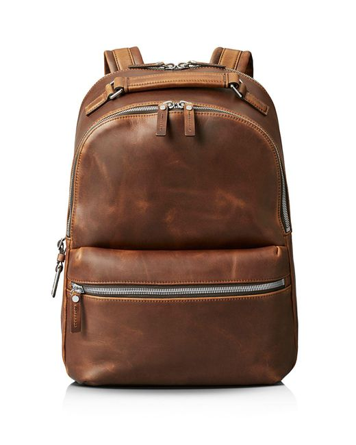 Shinola - Brown Distressed Runwell Backpack for Men - Lyst