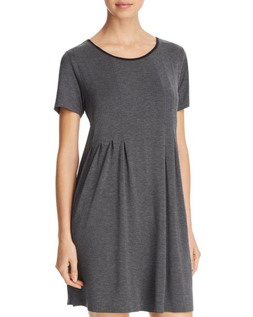 Donna Karan - Gray Basics Short-sleeve Sleepshirt - Lyst