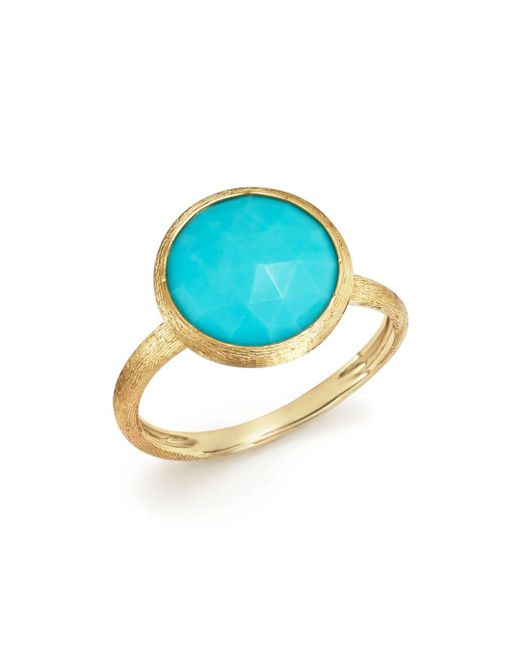 Marco Bicego - Metallic 18k Yellow Gold Jaipur Ring With Turquoise - Lyst