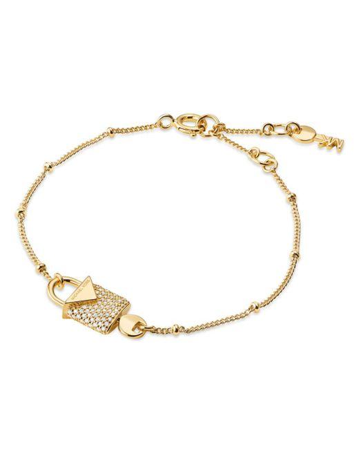 Michael Kors - Metallic Kors Color Sterling Silver Pavé Bracelet - Lyst