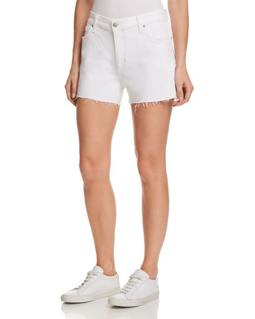 Joe's Jeans - White Lover Denim Boyfriend Shorts In Berkley - Lyst